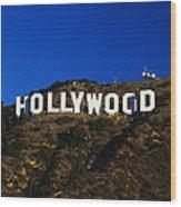 Hollywood Sign Los Angeles Ca Wood Print
