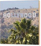 Hollywood Sign Photo Wood Print