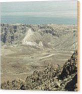 Holy Land: Masada Wood Print