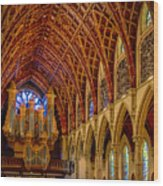 Holy Name Organ Loft Wood Print