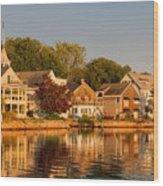 Homes On Kennebunkport Harbor Wood Print
