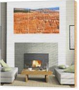 Hoodoos Of Bryce Canyon Wood Print
