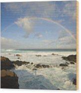 Hookipa Beach Wood Print