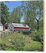 Hopewell Village And Stream Wood Print