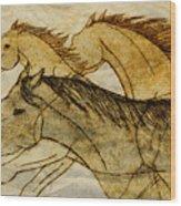 Horse Sketch Wood Print
