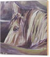 Horse World Detail Wood Print