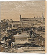 Hospital And Cemetery At Scutari, C.1854 Wood Print