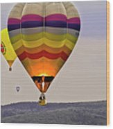 Hot-air Balloning Wood Print by Heiko Koehrer-Wagner
