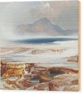 Hot Springs Of The Yellowstone Wood Print