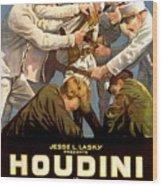 Houdini In The Grim Game 1919 Wood Print