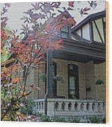 House In German Village Wood Print