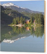 House On Green Lake Whistler B.c Canada Wood Print