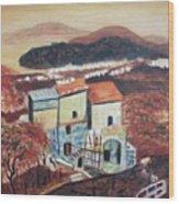House Sorento Italy Wood Print