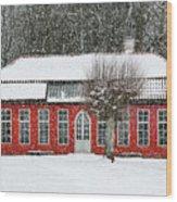 Hovdala Castle Orangery In Winter Wood Print