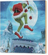 How The Grinch Stole Christmas 2000  Wood Print