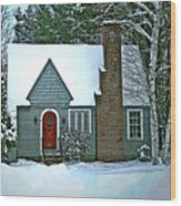 Howland House In Windsor Wood Print