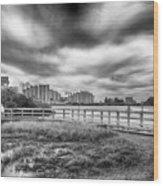 Hudson Beach Wood Print