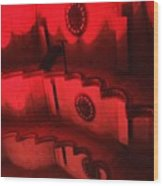 Hues Of Massey Hall - Red Wood Print