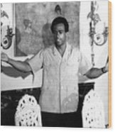 Huey Newton, Black Panther Party Wood Print by Everett