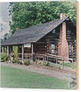Huffman Log Cabin Wood Print