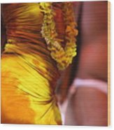 Hula Dancers Wood Print