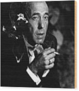 Humphrey Bogart Portrait #1 Circa 1954-2014 Wood Print