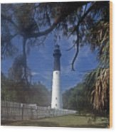 Lh 8-3 Hunting Island Lighthouse Sc Wood Print