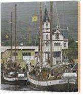 Husavik Harbor Iceland 3660 Wood Print