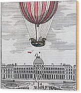 Hydrogen Balloon, 1783 Wood Print