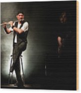 Ian Anderson Of Juthro Tull  Live Concert Wood Print