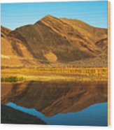 Ibex Hills Reflection Wood Print