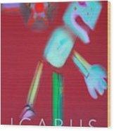 Icarus Falling Wood Print