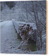 Ice Bridge Wood Print