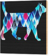 Ice Triangles Cats Wood Print
