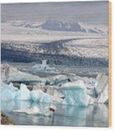 Iceland Glacier Lagoon Wood Print