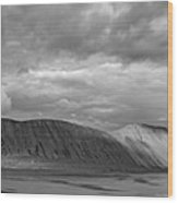 Iceland Mountains Panorama Wood Print