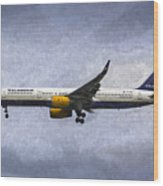 Icelandair Boeing 757 Art Wood Print