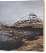 Icelandic  Mountain Landscape Wood Print