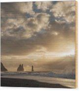 Icelandic Seascape Wood Print
