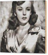 Ida Lupino, Vintage Actress Wood Print