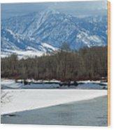 Idaho Winter River Wood Print