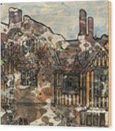 Ightham Mote Wood Print