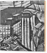 Iguana City Wood Print