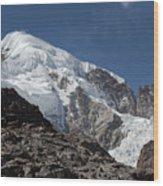 Illampu Mountain Wood Print