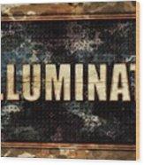 Illuminati Pop Art By Mary Bassett Wood Print