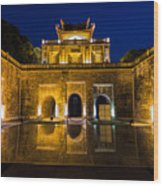 Imperial Citadel Of Hanoi Wood Print