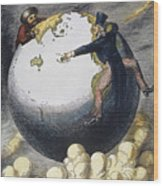 Imperialism Cartoon, 1876 Wood Print by Granger