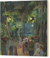 In The Park Wood Print