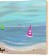 In The Pink - Sailing In Tropical Waters Wood Print