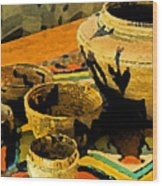 Indian Baskets 2 Wood Print